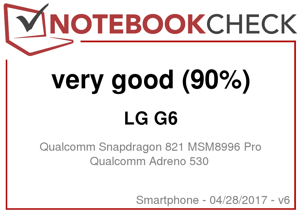 LG G6 Smartphone Review - NotebookCheck net Reviews