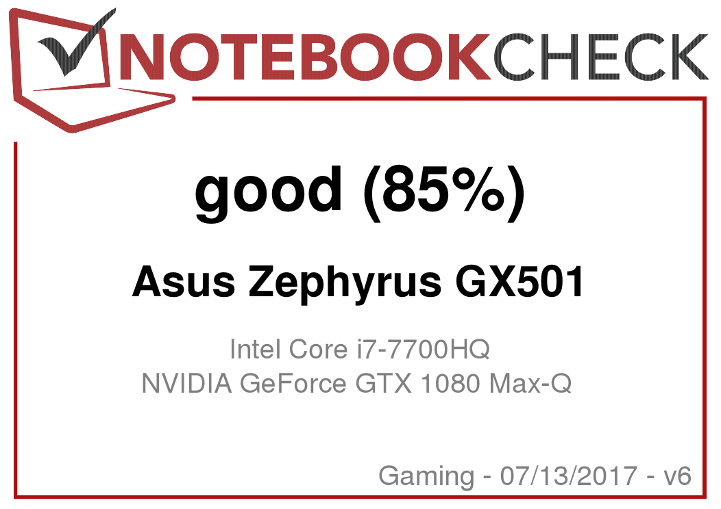 Asus ROG Zephyrus GX501 Laptop Review - NotebookCheck net