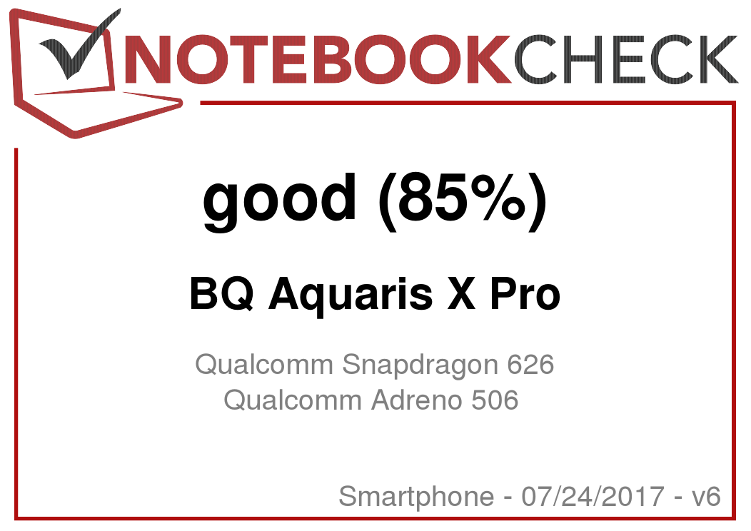 BQ Aquaris X Pro Smartphone Review - NotebookCheck net Reviews