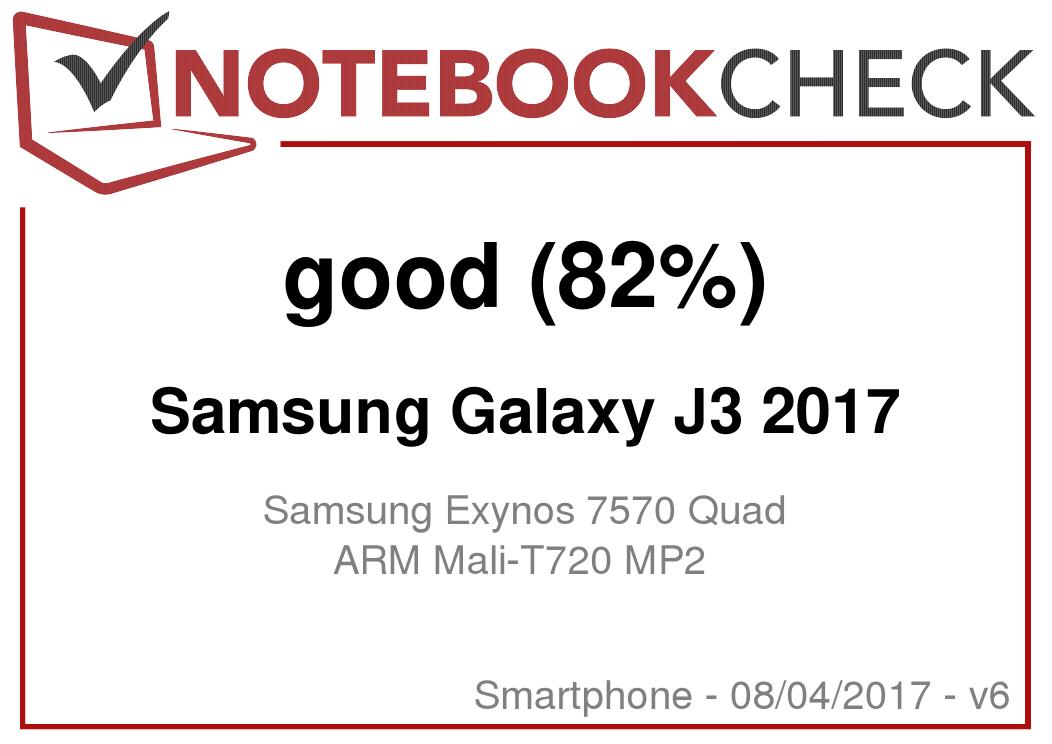 Samsung Galaxy J3 2017 Smartphone Review - NotebookCheck net Reviews