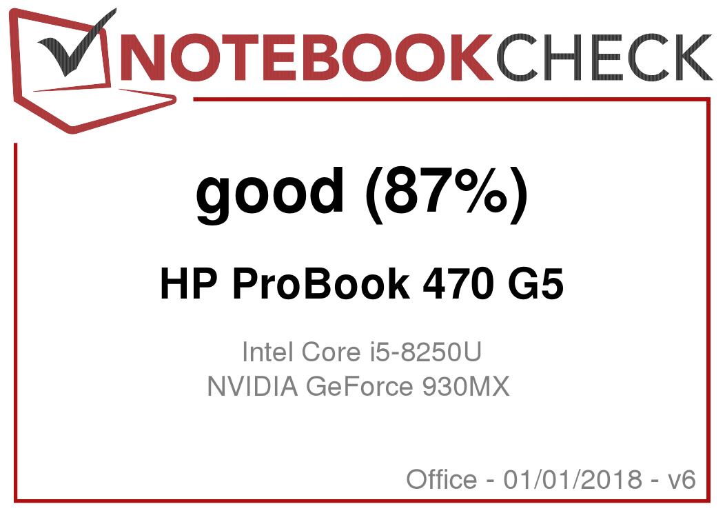 HP ProBook 470 G5 (i5-8250U, 930MX, SSD, FHD) Laptop Review