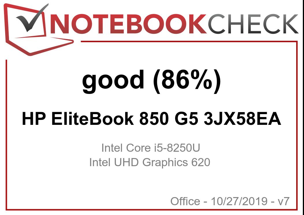 HP EliteBook 850 G5 (i5-8250U, FHD) Laptop Review