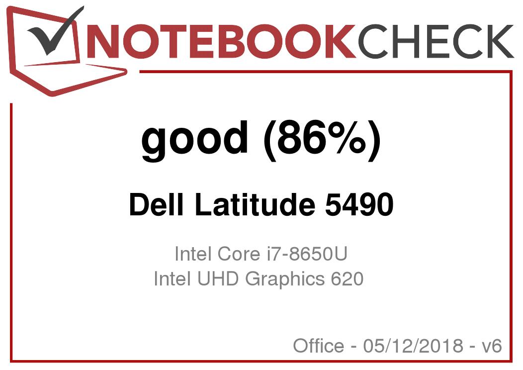 Dell Latitude 5490 (Core i7-8650U, Touchscreen) Laptop Review