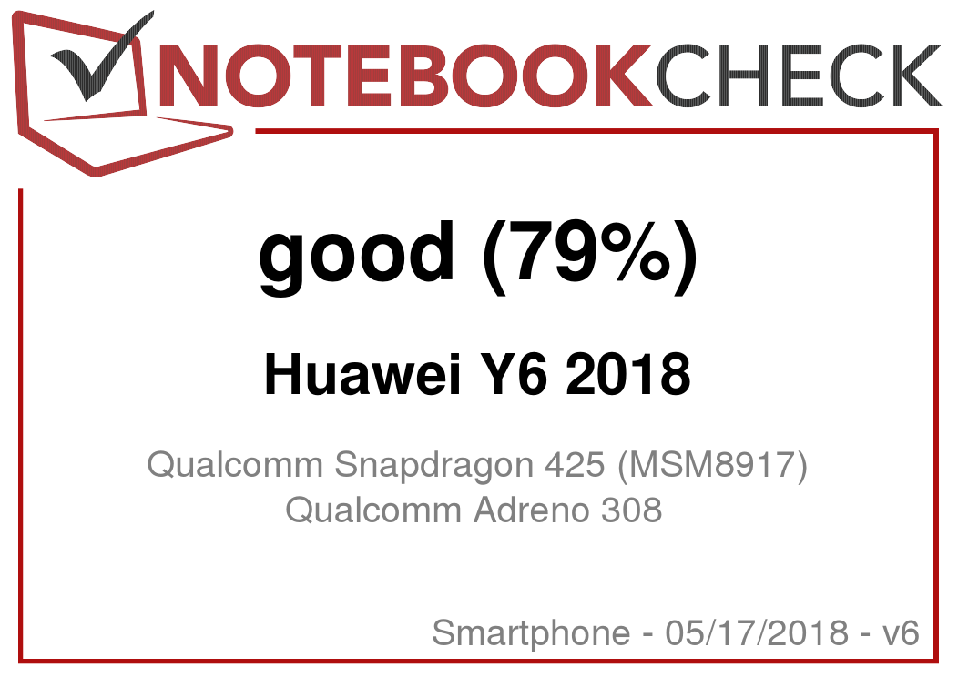 Huawei Y6 2018 Smartphone Review - NotebookCheck net Reviews