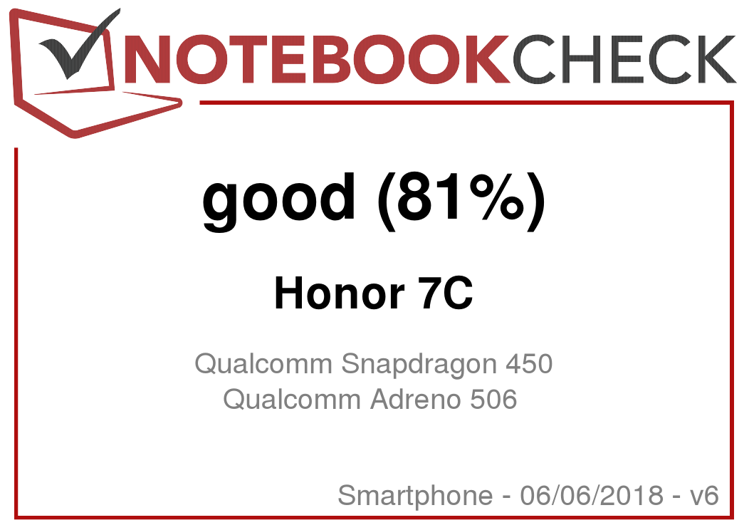 Honor 7C Smartphone Review - NotebookCheck net Reviews