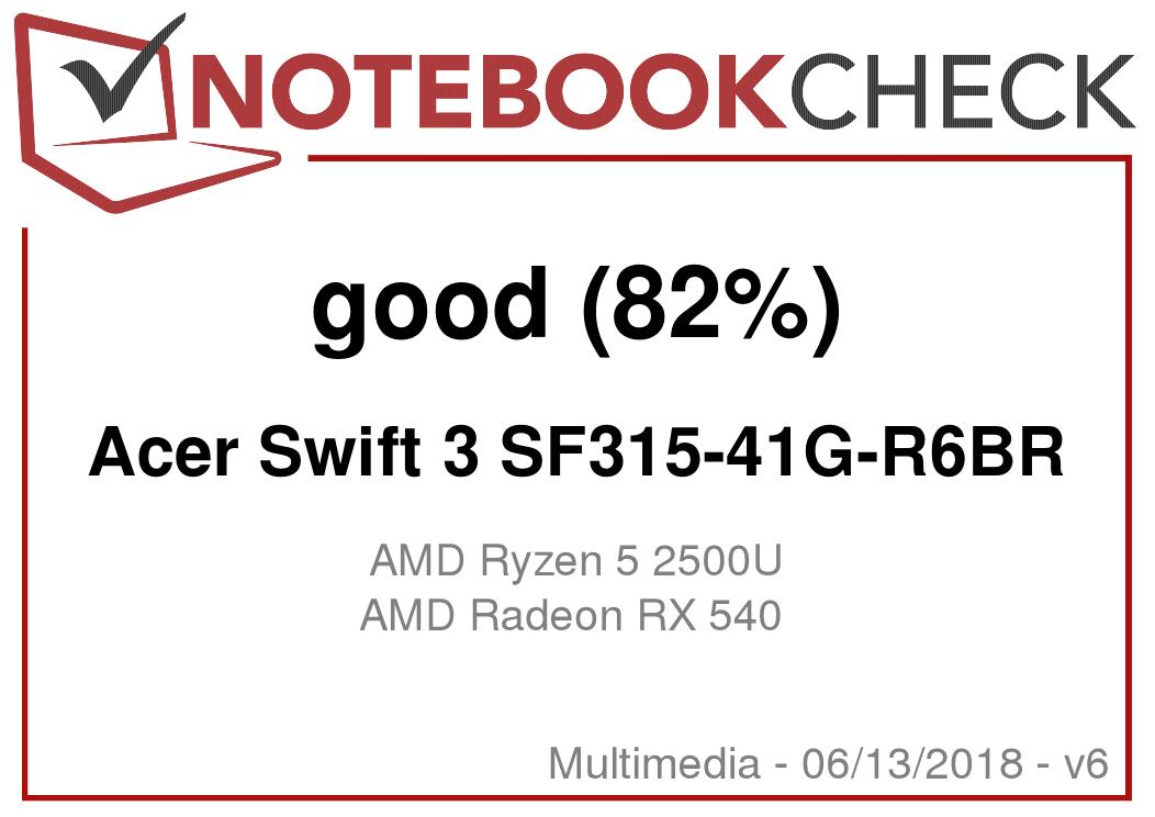 Acer Swift 3 SF315-41G (Ryzen 5 2500U, Radeon RX 540, SSD, FHD