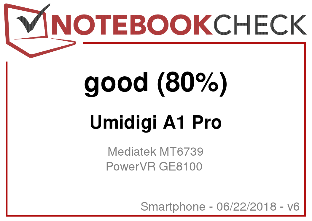 UMIDIGI A1 Pro Smartphone Review - NotebookCheck net Reviews