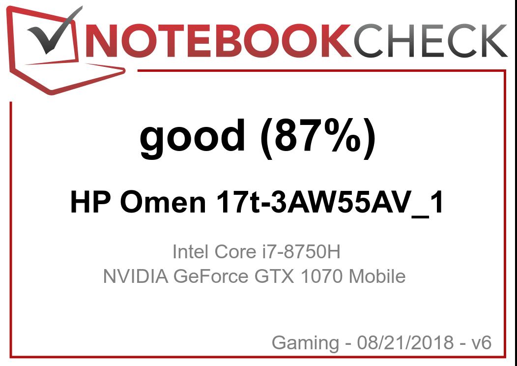 HP Omen 17t (i7-8750H, GTX 1070) Laptop Review - NotebookCheck net