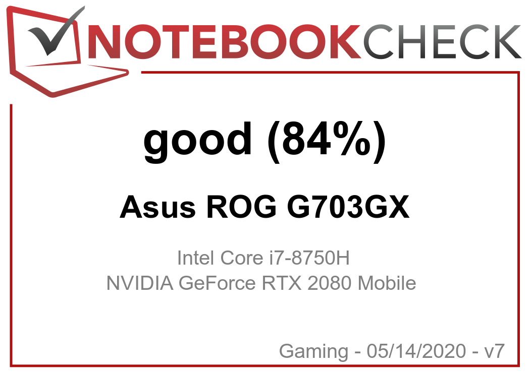 Asus ROG G703GX (i7-8750H, RTX 2080) Laptop Review - NotebookCheck