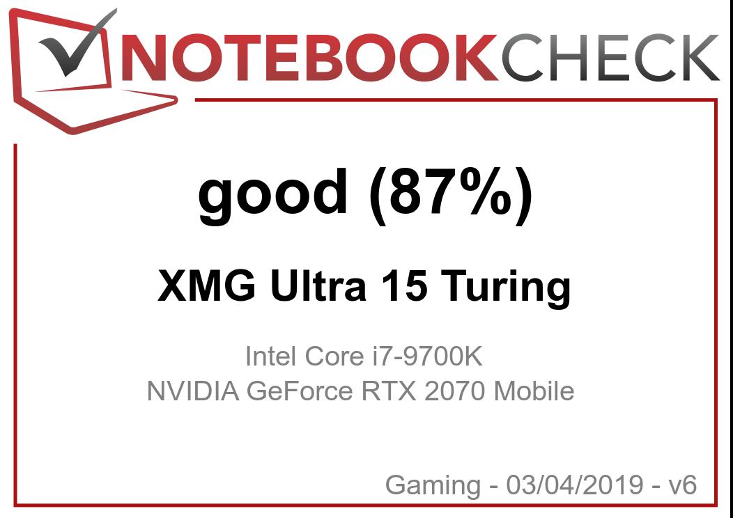 Schenker XMG Ultra 15 (i7-9700K, RTX 2070) Clevo P751TM1-G