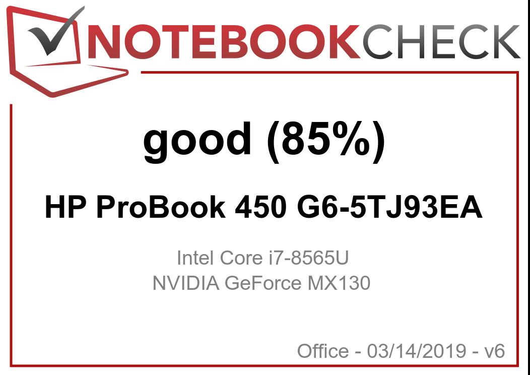 HP ProBook 450 G6 (Core i7-8565U, GeForce MX130) Laptop Review