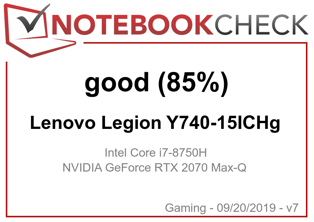 Lenovo Legion Y740-15ICH (i7-8750H, RTX 2070 Max-Q) Laptop