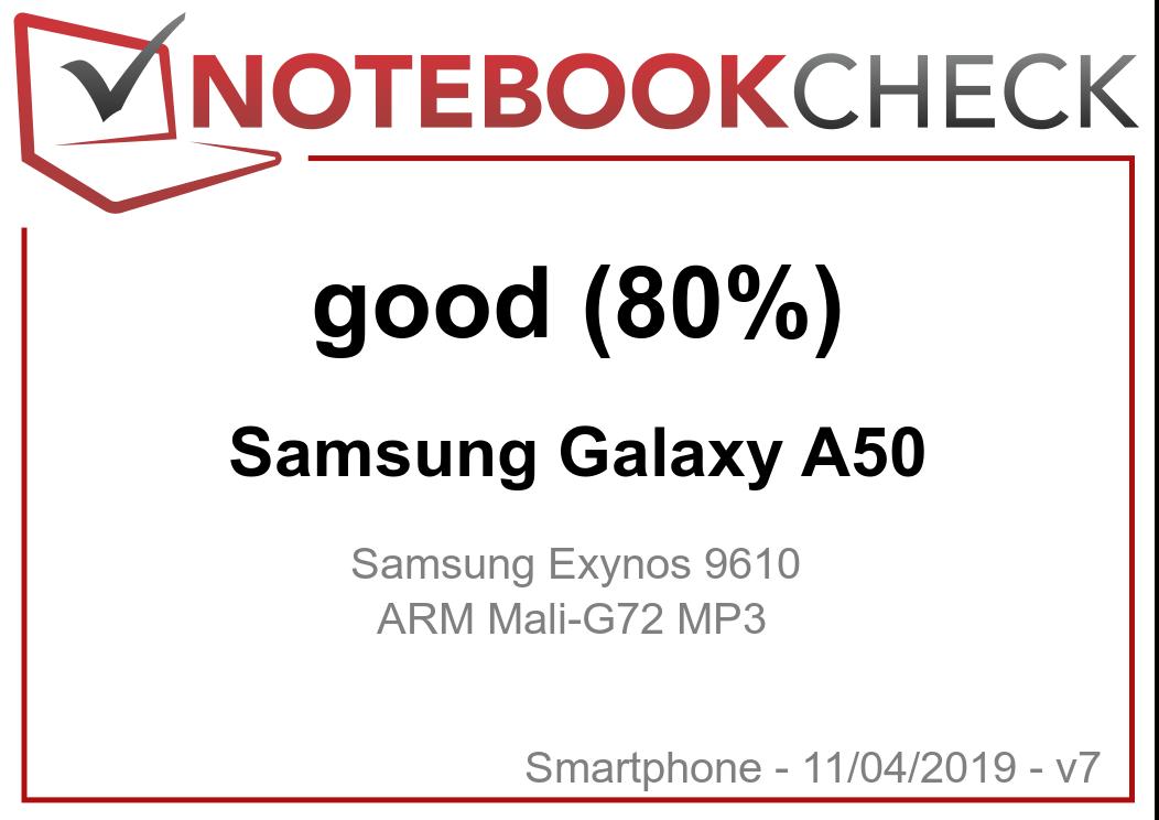 Samsung Galaxy A50 Smartphone Review - NotebookCheck net Reviews