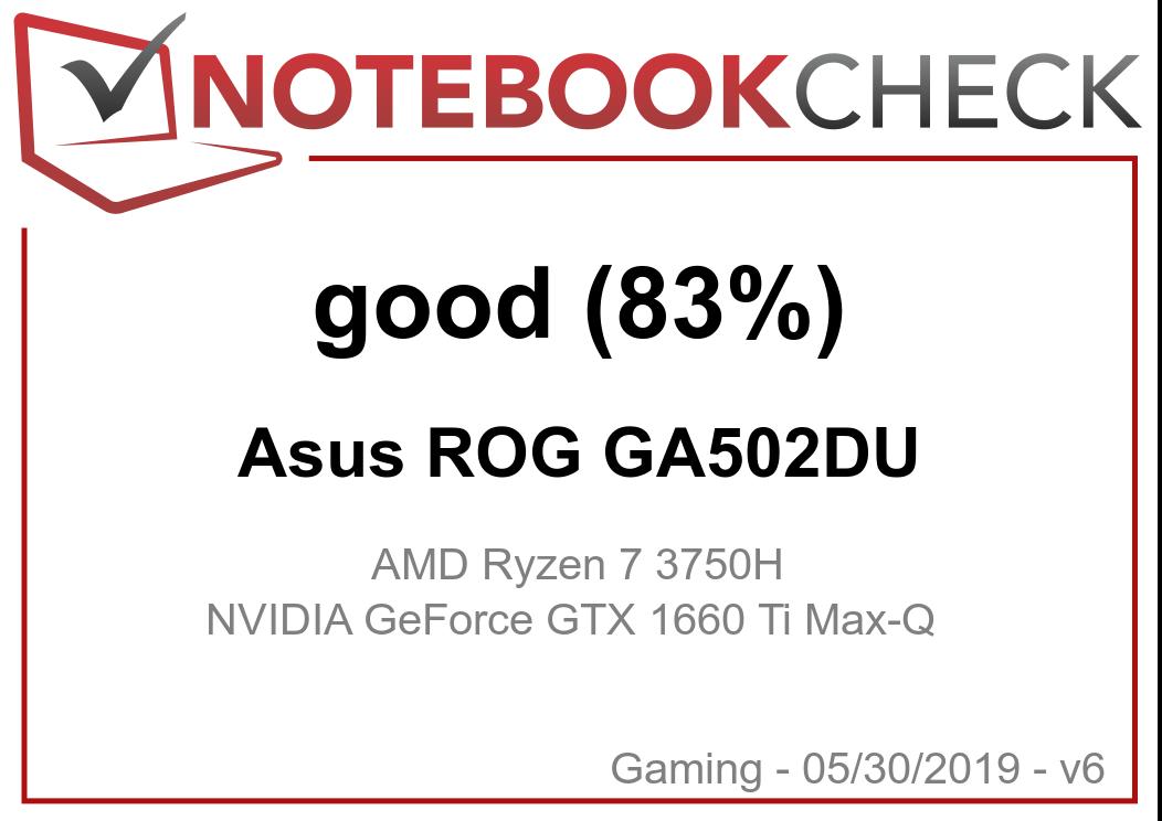 Asus ROG Zephyrus G GA502DU (Ryzen 7 3750H, GTX 1660 Ti Max