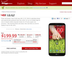 LG G2 now available on Verizon