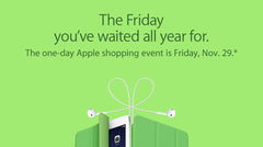 Apple plans one-day Black Friday shopping event