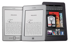 Left to Right: Amazon Kindle, Kindle Touch, Kindle Fire