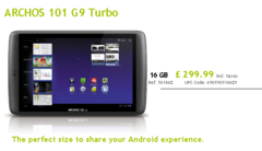 Archos now shipping 101 G9 tablet