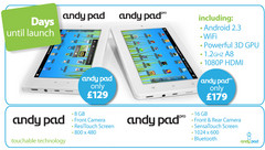 AndyPad and AndyPad Pro to hit UK in 11 days time