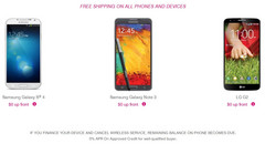 T-Mobile offers the Note 3 for $0 down