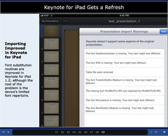 Keynote for iPad gets a facelift in the latest Keynote 1.2