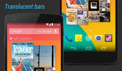Android 4.4.1 KitKat disables translucent bars on Nexus 10