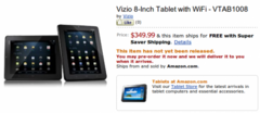 8-inch Visio tablet now available for pre-order for $349.99