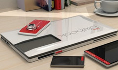Lifebook concept laptop Lifebook laptop a camera, a phone, and a tablet