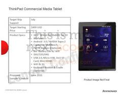 Lenovo ThinkPad Tablet leaked
