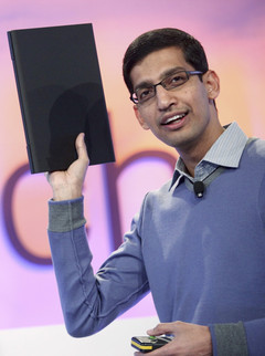 Sundar Pichai (pictured) will replace Andy Rubin as the head of Android at Google