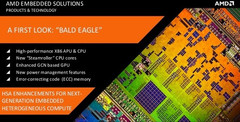 AMD unveils Hierofalcon, Bald Eagle, Steppe Eagle, and Adelaar embedded products