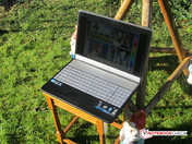 Asus notebook outdoors