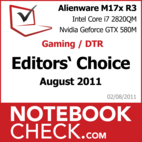 Award: Gaming/DTR Notebook of August 2011