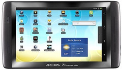 Archos 70 Internet tablet now shipping