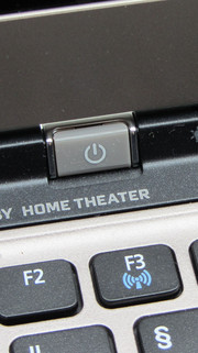 The power button is in an unusual place.