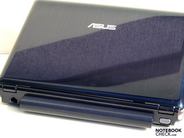 Asus N20A Rear: RJ-45 (LAN), Battery, VGA