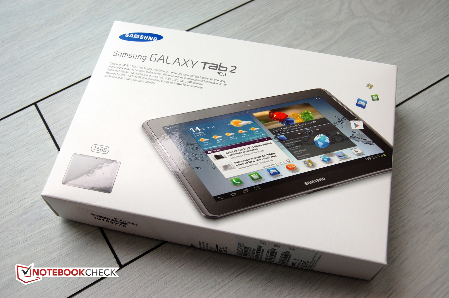 "Review Samsung 10.1"" Galaxy Tab 2 Tablet/MID - NotebookCheck.net"
