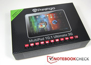 According to the packaging, the Prestigio MultiPad is 10.1 Ultimate 3G is already ready for Android 4.1 Jelly Bean.