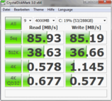 CDM 86 MB/s reading