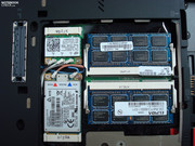 Fully occupied RAM slots with 2x2 GBs, due to 32 bit Vista only about 3 GB useable