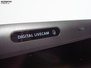 Standard in the meantime: Webcam in the display bezel