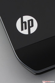 A lit HP logo can be found on the display cover.