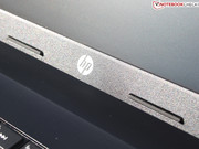 The HP Logo is painted on (also on the lid).