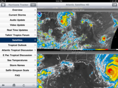 Hurricane tracker for iPad can help you beat the Irene