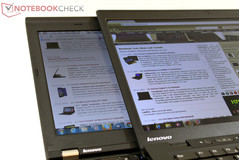 Viewing angles: Lenovo ThinkPad X1 Carbon vs. ThinkPad X220 IPS