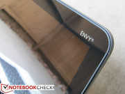 Envy 15 logo graces the top right of the display...