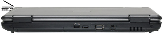 Back Side: Gigabit-LAN, 1x USB-2.0, VGA, S-Video-Out, Fan