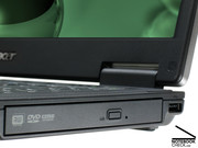 The DVD burner is inside a MediaBay and can be exchanged by a fast additional hard disk or a MediaBay battery.