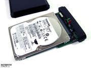 You can choose whether to use a conventional hard drive or an SSD.