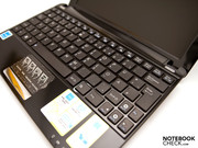 Keyboard and touchpad in a full view